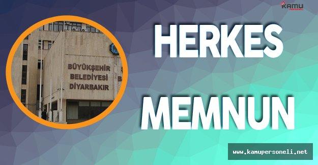 Diyarbakır Büyükşehir Belediyesi Personeli de Halk da Memnun
