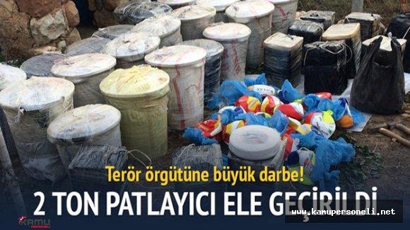 Diyarbakır'da 2 Ton Patlayıcı Ele Geçirildi