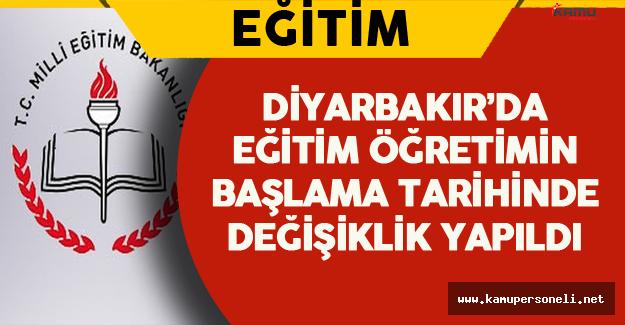 Diyarbakır'da İlköğretim Haftası Programı Ertelendi