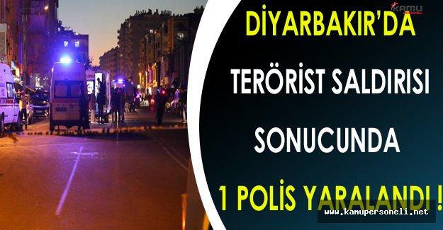 Diyarbakır'da PKK'lı Teröristler Polis Ekibine Saldırdı ! ( 1 Polis Yaralı )
