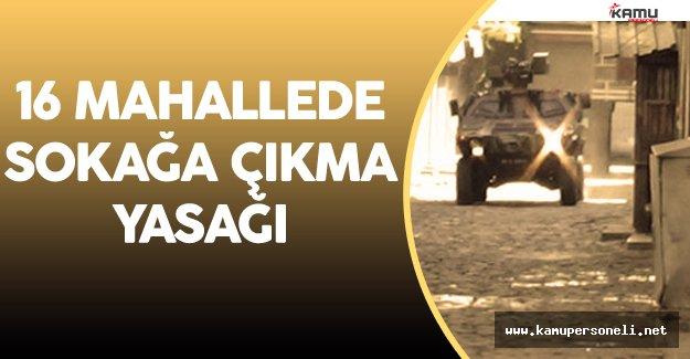 Diyarbakır Hani ve Lice İlçelerinde Sokağa Çıkma Yasağı