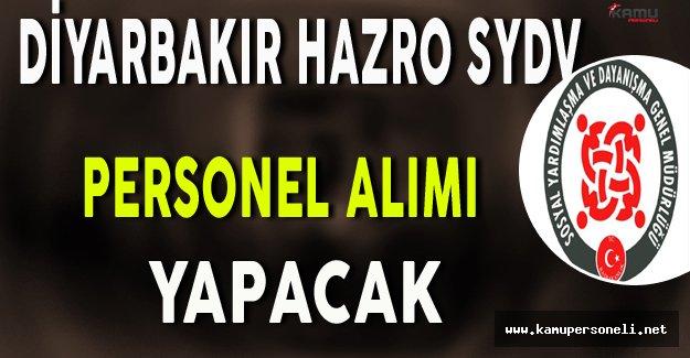 Diyarbakır Hazro SYDV Personel Alımı Yapacak
