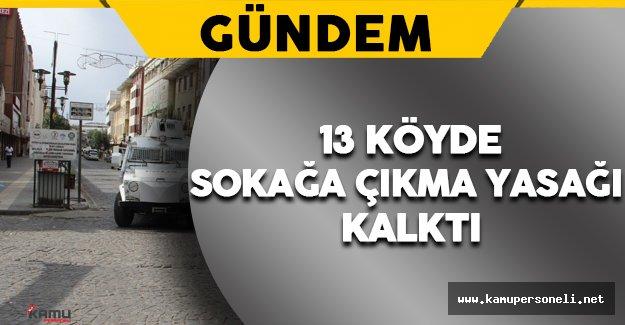 Diyarbakır'ın Bazı Köylerinde Sokağa Çıkma Yasağı Sona Erdi