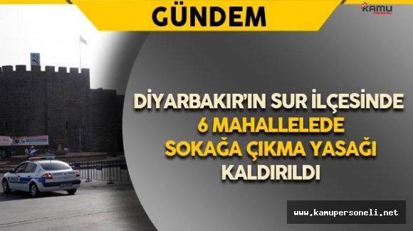 Diyarbakır'ın Sur İlçesinde Sokağa Çıkma Yasağı Kalkan Mahalleler