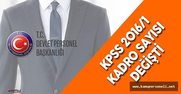"""DPB Duyurdu : """"2016/1 KPSS Tercihleri için Kadro Sayısı Değişti """""""