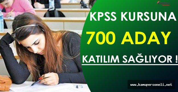 Düzenlenen KPSS Kursuna 700 Aday Katılıyor ( İşte Detaylar )