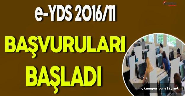 e-YDS 2016/11 Başvuruları Başladı