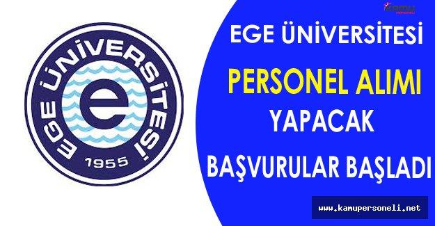 Ege Üniversitesi Personel Alımı Yapacak