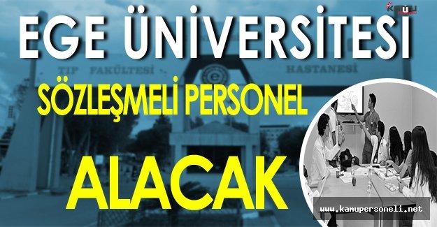 Ege Üniversitesi Sözleşmeli Personel Alacak