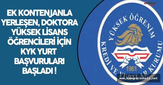 Ek Kontenjanla Yerleşen, Üniversitesi Kapatılan, Lisansüstü/Doktora Öğrencilerinin Yurt Başvuruları Başladı