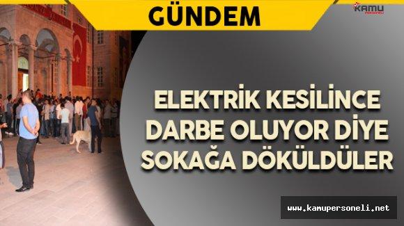 Elektrik Kesilince Darbe Girişimi Sandılar