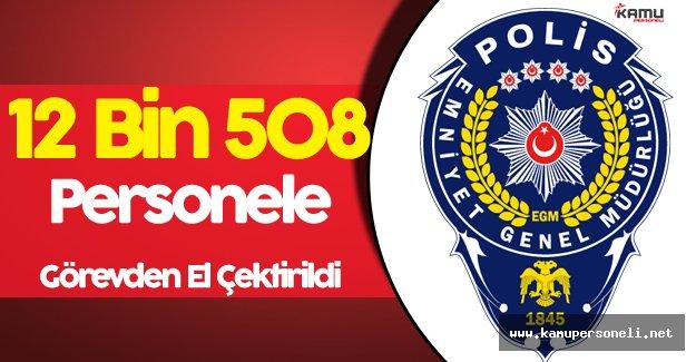 Emniyet Genel Müdürlüğünde 12 Bin 801 Personel Görevden Uzaklaştırıldı