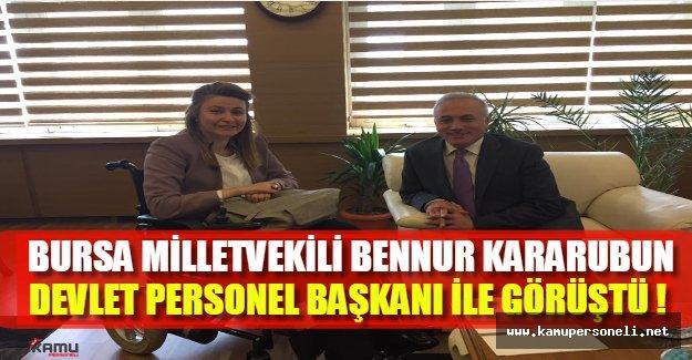 Engelli Milletvekili, engelli memur adaylarına seslendi: DPB ile görüştüm !