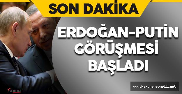 Erdoğan ve Putin Görüşmesi Konstantin Sarayı'nda Başladı