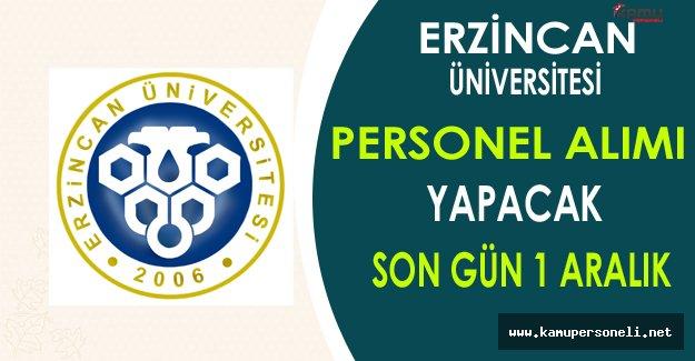 Erzincan Üniversitesi Personel Alımı Yapacak