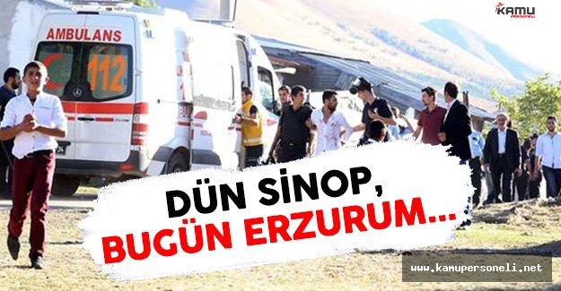 Erzurum'da Aşiret Kavgası Çıktı Onlarca Kişi Birbirine Girdi !