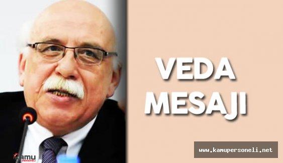 Eski Milli Eğitim Bakanı Nabi Avcı Öğretmenlere Veda Etti