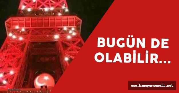EURO 2016 Eyfel Kulesi Tekrar Türk Bayrağına Dönebilir