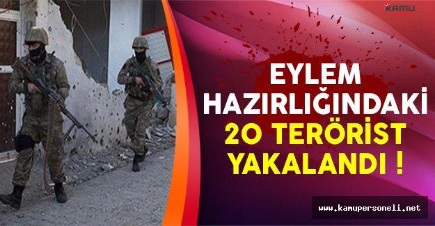 Eylem Hazırlığındaki 20 Terörist Siirt'te Yakalandı