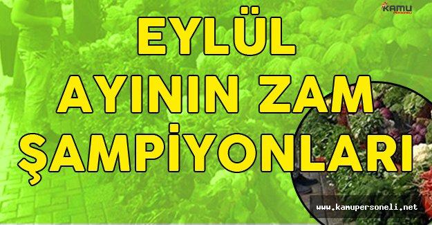 Eylül Ayının Zam Şampiyonu Kıvırcık Salata Oldu ( İşte Fiyatı Düşen ve Yükselen Ürünler)