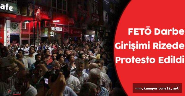 FETÖ Darbe Girişimi Rize'de Protesto Edildi