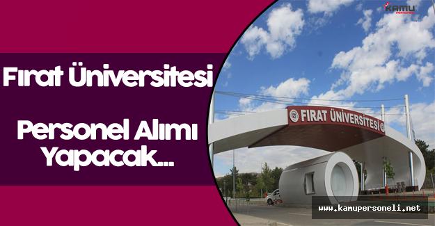 Fırat Üniversitesi Personel Alımı Yapacak