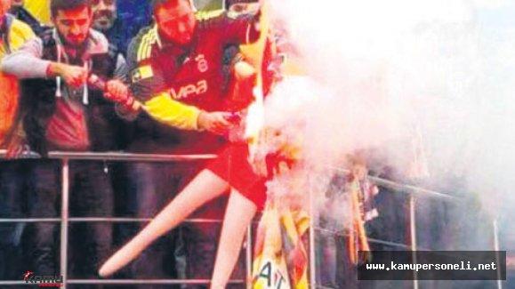 Galatasaray Flamasını Yakan Fenerbahçeli Taraftara 2 Ay Hapis