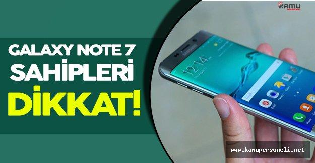 Galaxy Note 7 Kullanıcıları Dikkat! Telefonların Değiştirileceği Tarih Belli Oldu!