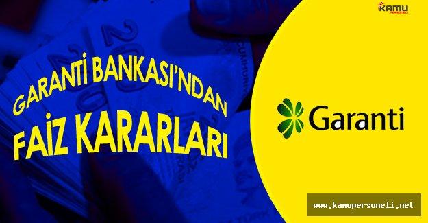 Garanti Bankası'ndan Müşterilerini Sevindirecek Faiz Kararı