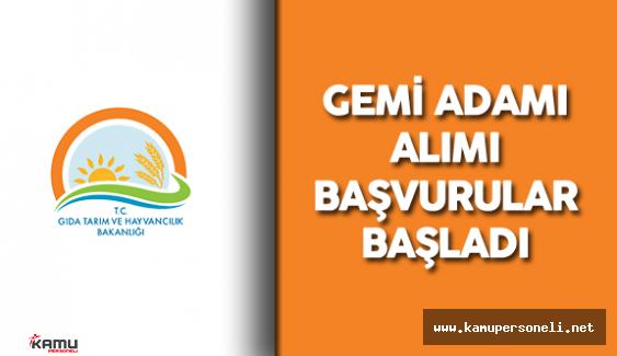 Gıda, Tarım ve Hayvancılık Bakanlığı 6 Sözleşmeli Personel Alımı Başvurular Başladı