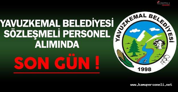 Giresun/Yavuzkemal Belediyesi Sözleşmeli Personel Alımında Son Gün !