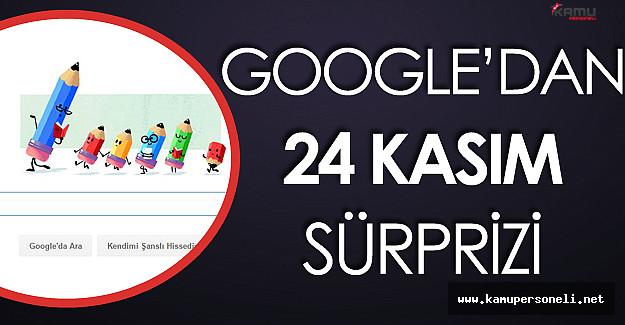 Google'dan Değerli Öğretmenlerimiz İçin Sürpriz Logo