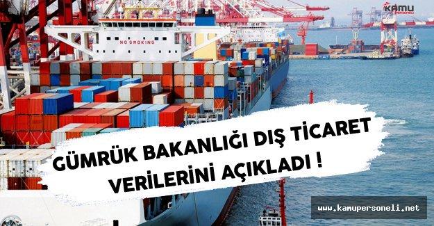 Gümrük ve Ticaret Bakanlığı Dış Ticaret Verileri Açıklandı