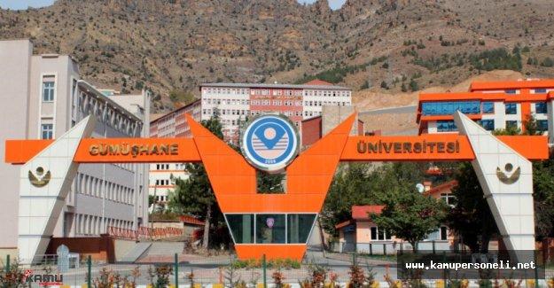 Gümüşhane Üniversitesi Akademik Personel Alımı İlanı