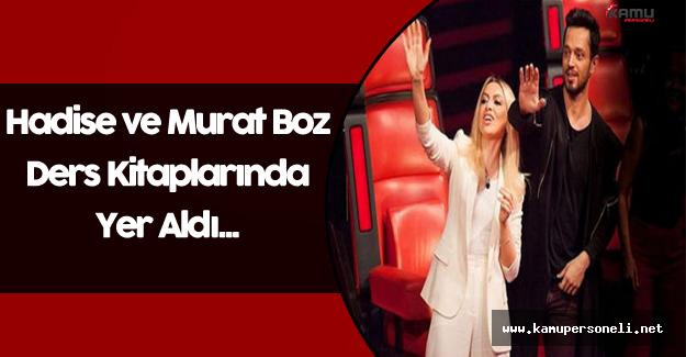 Hadise ve Murat Boz Ders Kitaplarında...