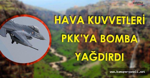Hava Kuvvetleri PKK Kamplarının Bulunduğu Zap Bölgesine Bomba Yağdırdı!
