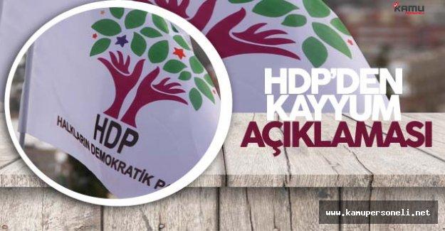 HDP'den Kayyum Atamaları Hakkında Açıklama Geldi