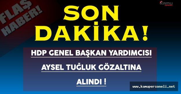 HDP Genel Başkan Yardımcısı Aysel Tuğluk Gözaltına Alındı