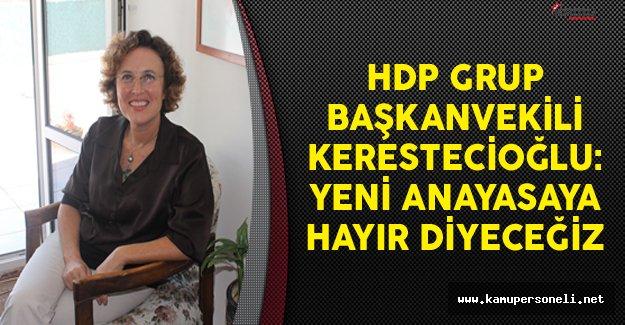 HDP Grup Başkanvekili Kerestecioğlu: Yeni Anayasaya Hayır Diyeceğiz