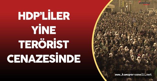 HDP'li Vekiller Yine Terörist Cenazesinde