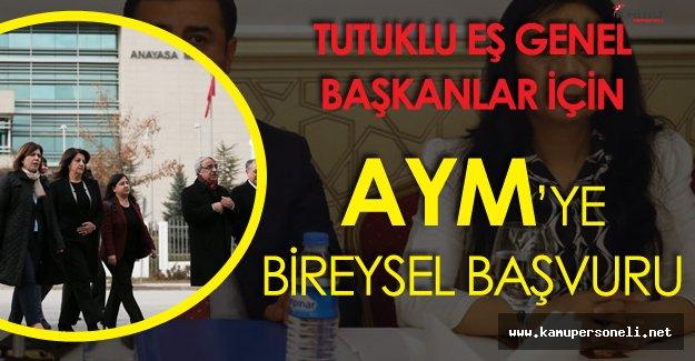 HDP'lilerden Tutuklu Eş Genel Başkanlar için Anayasa Mahkemesine Başvuru