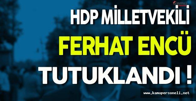HDP Milletvekili Ferhat Encü Tutuklandı