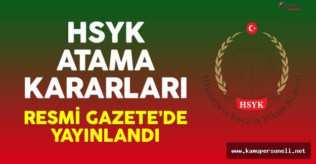 HSYK'ya Ait Atama Kararları Resmi Gazete'de Yayınlandı