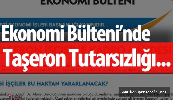 Taşeron Broşüründe Tutarsızlık  - Başlangıçta Kadro Müjdesi Daha Sonra ÖSP