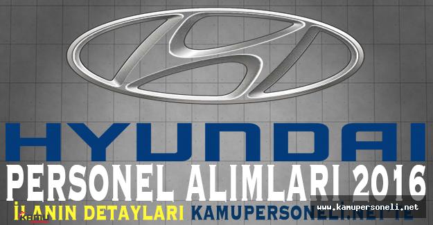 Hyundai Personel Alımları 2016