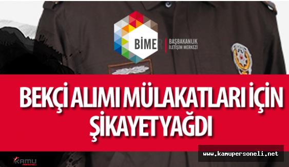 İçişleri Bakanlığı Bekçi Alımı için BİMER'e Şikayet Yağdı