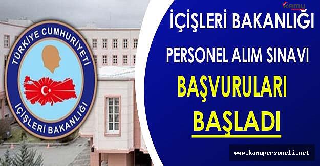 İçişleri Bakanlığı Personel Alım Sözlü Sınavı Başvuruları Başladı