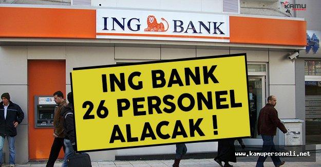 ING Bank personel alımı yapacak ! İşte başvuru şartları