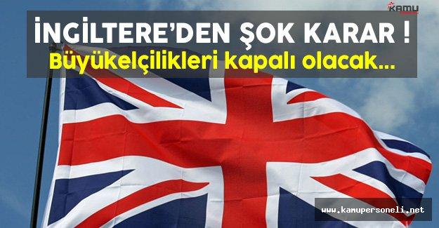 İngiltere Büyükelçiliği 16 Eylül Cuma Günü Kapalı Olacak !