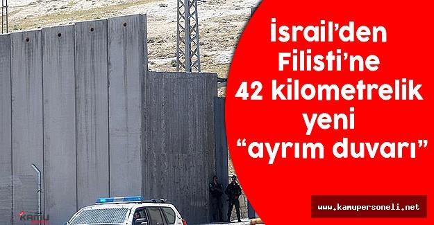 İsrail'den Filistin'e 42 Kilometrelik Ayrım Duvarı